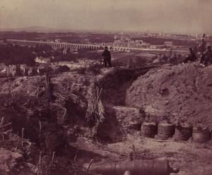 Vue du Viaduc d\'Arcueil en 1871